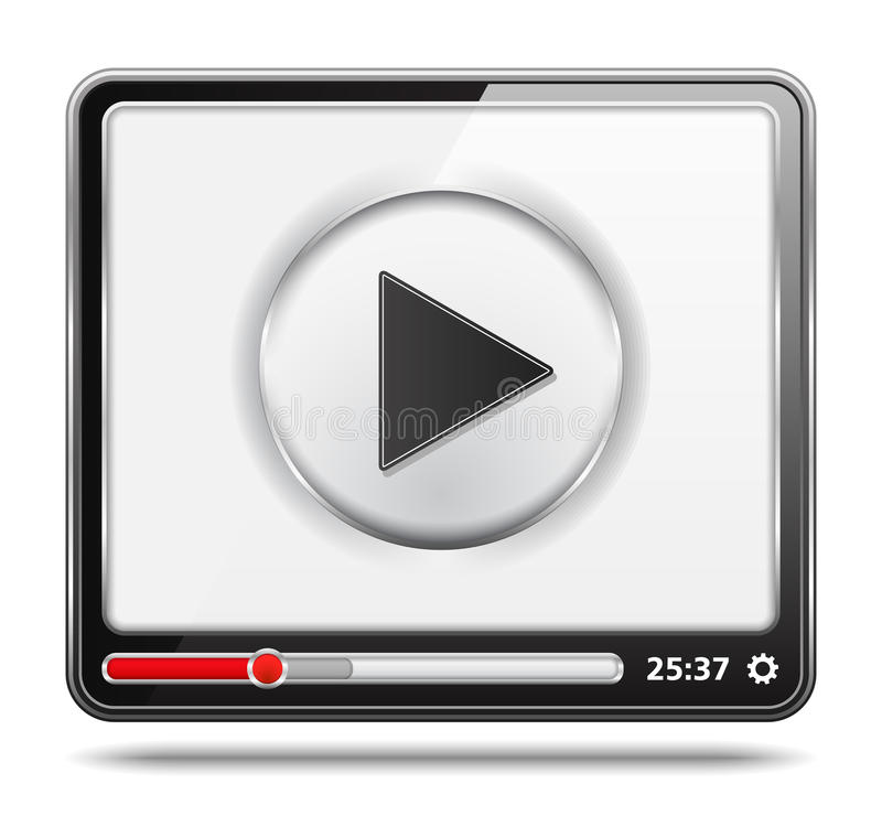 Εικονίδιο video διανυσματική απεικόνιση