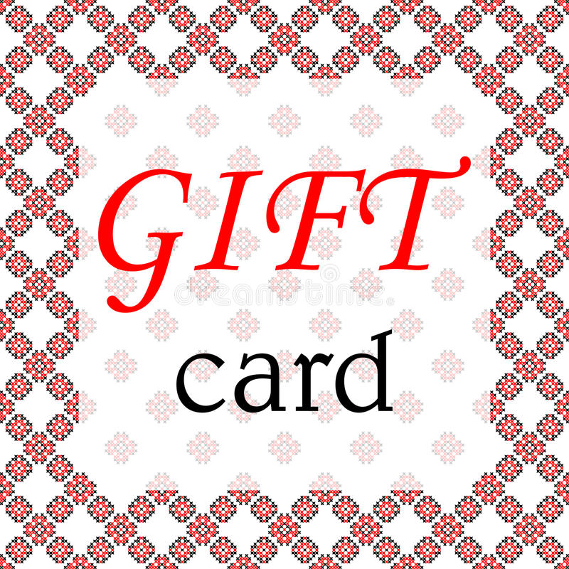 , Μαύρων και κόκκινων σχέδια πλαισίων, καρτών δώρων στον καμβά στοκ εικόνες