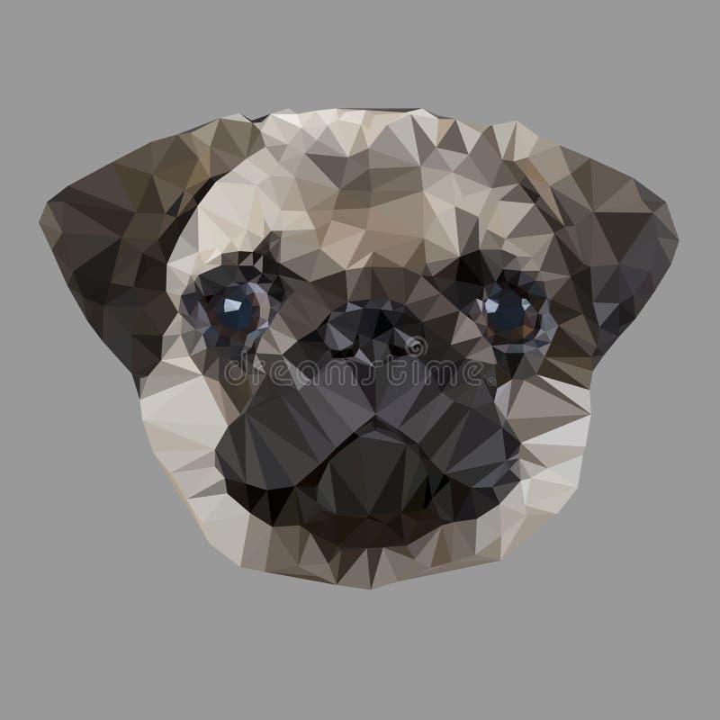Μαλαγμένος πηλός σκυλιών διανυσματική απεικόνιση