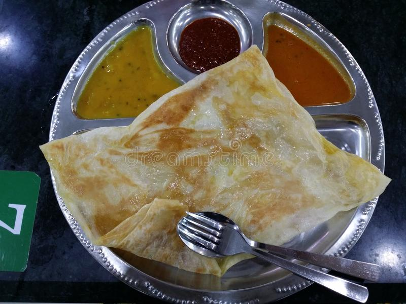 Μαλαισιανά τρόφιμα Canai Roti στοκ φωτογραφίες