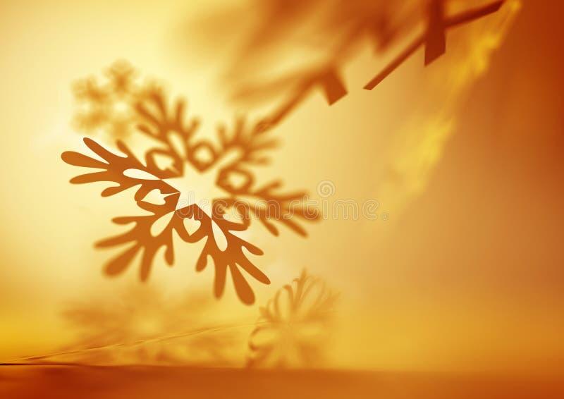 Μαλακά μειωμένα Snowflakes διανυσματική απεικόνιση