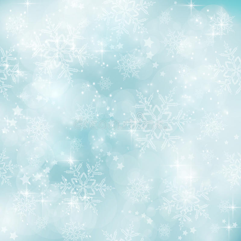 Μαλακός και μουτζουρωμένος μπλε χειμώνας κρητιδογραφιών, Χριστούγεννα patt ελεύθερη απεικόνιση δικαιώματος