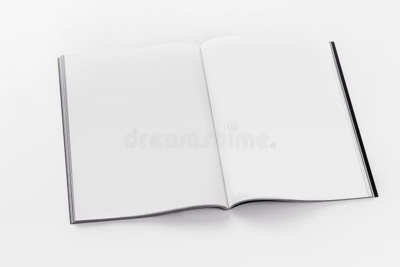 Μαλακό ανοιγμένο κάλυψη πρότυπο φυλλάδιων ελεύθερη απεικόνιση δικαιώματος