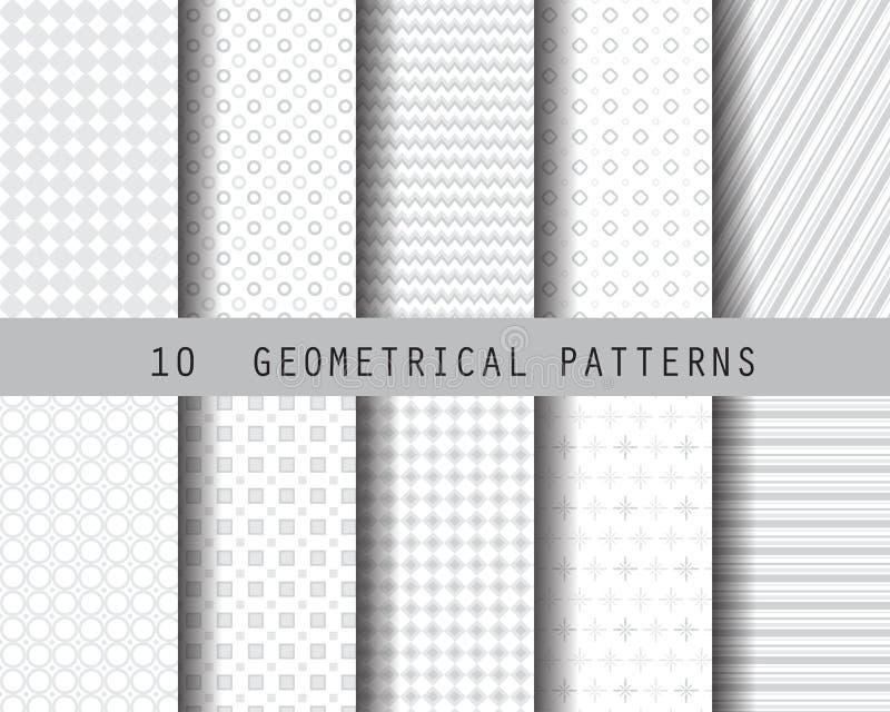 Μαλακό γκρίζο γεωμετρικό σχέδιο ελεύθερη απεικόνιση δικαιώματος