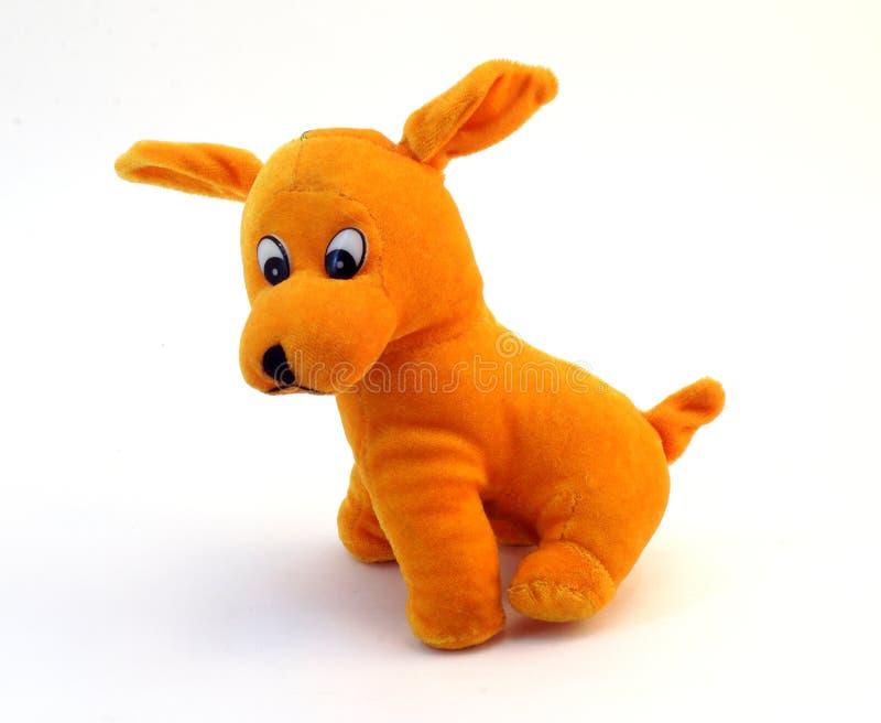 Μαλακό παιχνίδι - πορτοκαλί σκυλί με τα μακριά αυτιά στοκ φωτογραφία με δικαίωμα ελεύθερης χρήσης