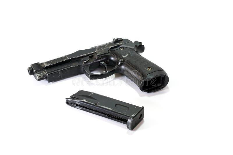 Μαλακό πυροβόλο όπλο αέρα με τα περιοδικά στοκ φωτογραφίες