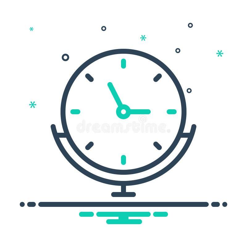 μείξη εικονιδίου για ρολόι, βάση και συναγερμό απεικόνιση αποθεμάτων