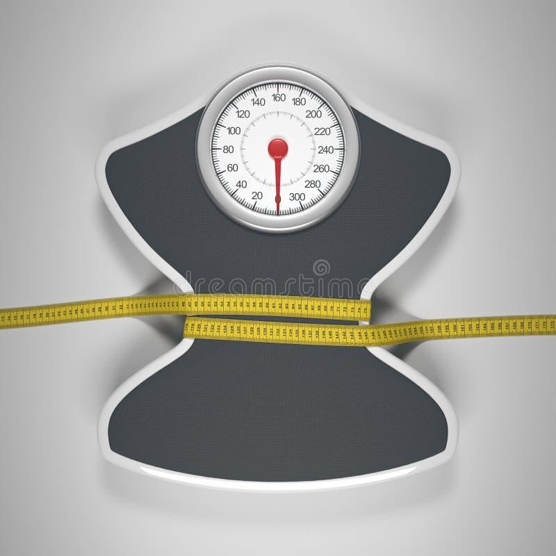 Μείωση του μεγέθους και του βάρους ελεύθερη απεικόνιση δικαιώματος
