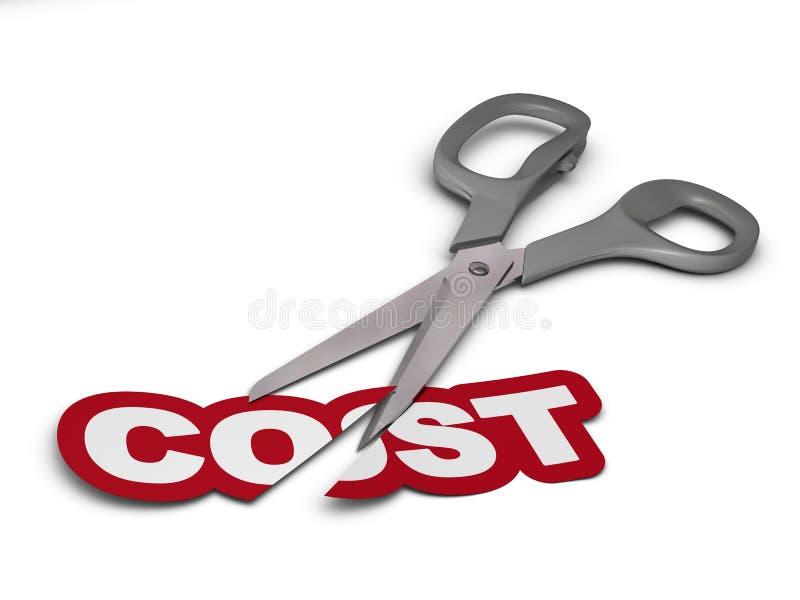 Μείωση των δαπανών ελεύθερη απεικόνιση δικαιώματος