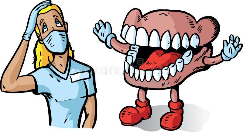 μεγάλα δόντια οδοντιάτρων διανυσματική απεικόνιση