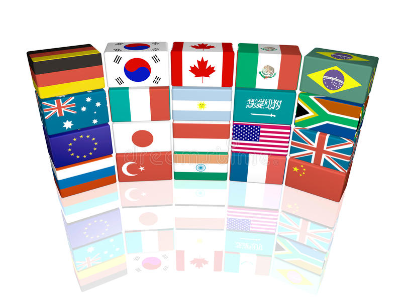 Download μεγάλα είκοσι απεικόνιση αποθεμάτων. εικονογραφία από χώρες - 13189365