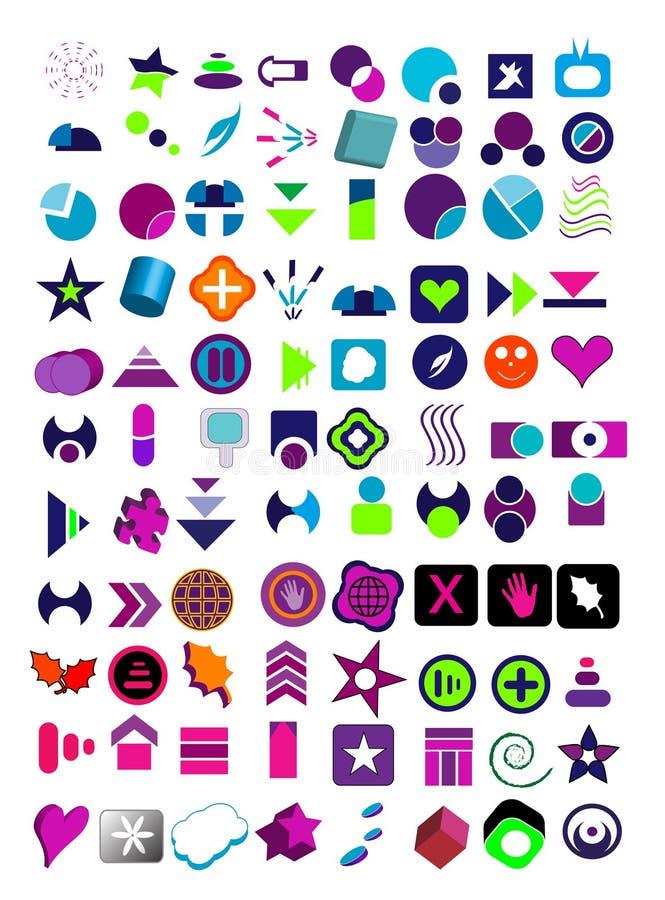 μεγάλα λογότυπα που τίθενται διανυσματικά πολύ ελεύθερη απεικόνιση δικαιώματος
