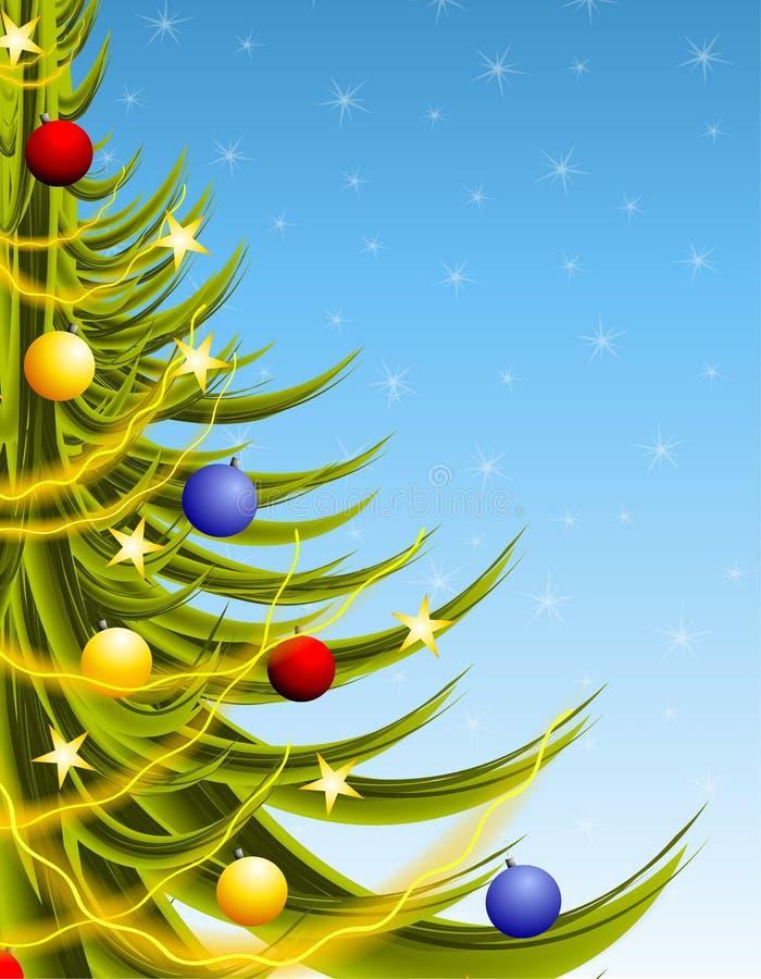 μεγάλα μπλε Χριστούγεννα δέντρων απεικόνιση αποθεμάτων