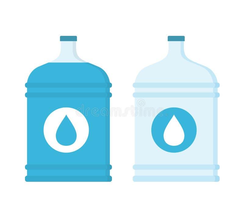 Μεγάλα μπουκάλια με το νερό διανυσματική απεικόνιση