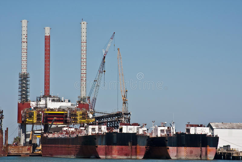 μεγάλα σκάφη αποβαθρών στοκ φωτογραφία
