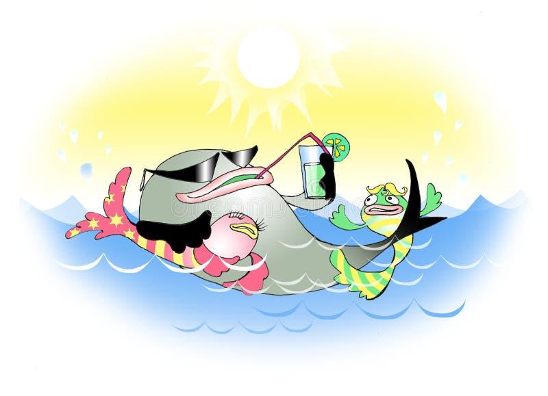 μεγάλα ψάρια ελεύθερη απεικόνιση δικαιώματος