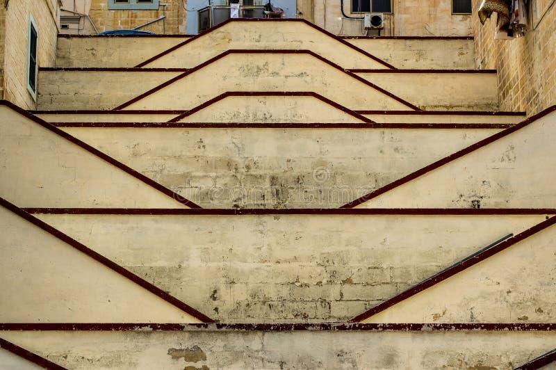 Μεγάλα όμορφα σκαλοπάτια σε Senglea στοκ εικόνα