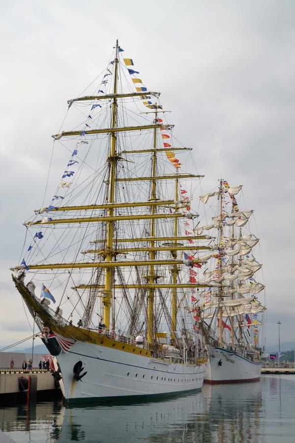 Μεγάλα sailboats στο Sochi στοκ εικόνα με δικαίωμα ελεύθερης χρήσης