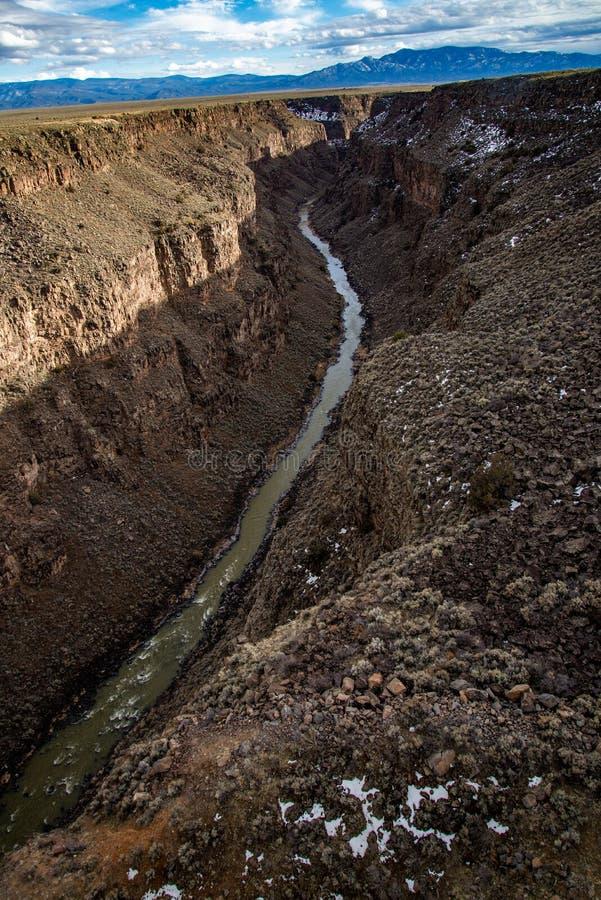 Μεγάλα taos New Mexico γεφυρών φαραγγιών του Ρίο στοκ εικόνες με δικαίωμα ελεύθερης χρήσης