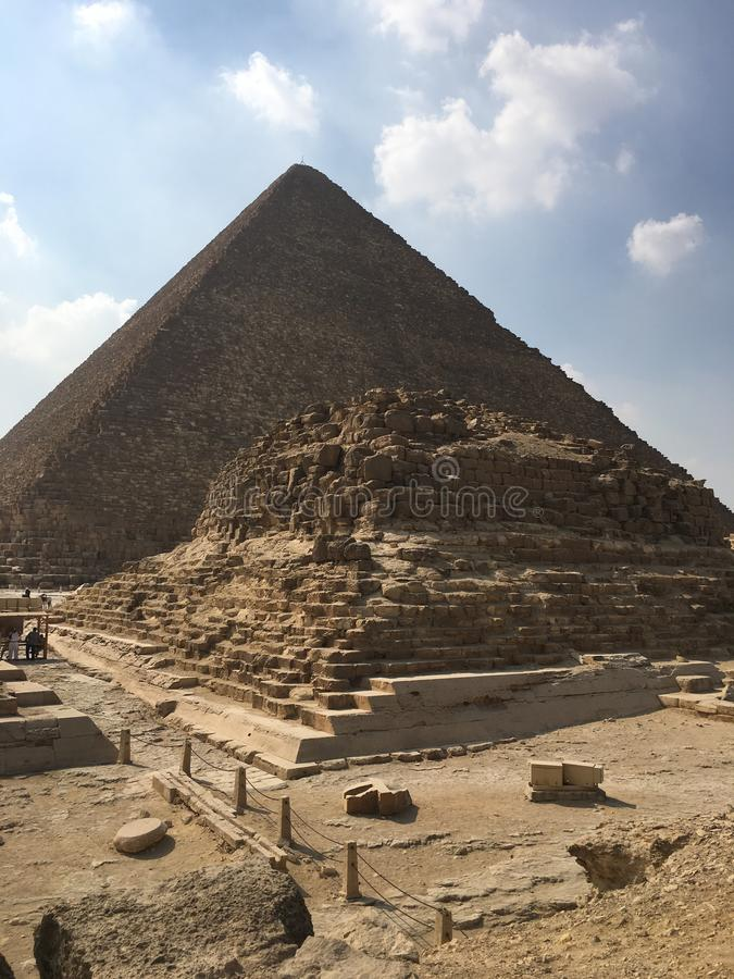 μεγάλες πυραμίδες giza στοκ εικόνα