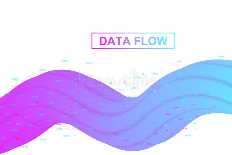 Μεγάλες analytics και επιχειρηματική κατασκοπεία στοιχείων Ψηφιακή έννοια analytics με τη γραφική παράσταση και τα διαγράμματα Οι απεικόνιση αποθεμάτων