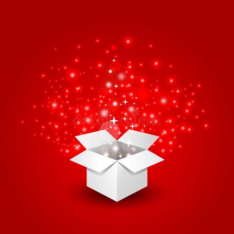 μεγάλη έκπληξη δώρων κιβωτί&om απεικόνιση αποθεμάτων