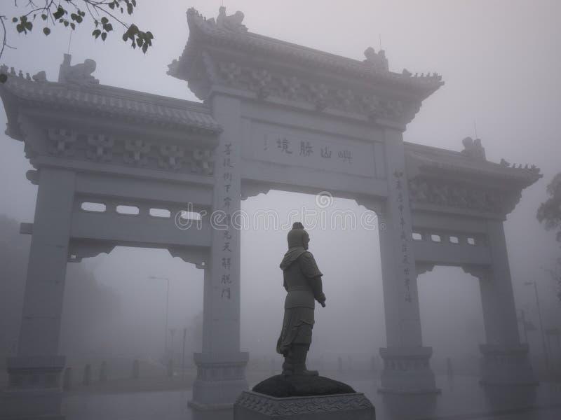 Μεγάλη αναμνηστική πύλη του Βούδα στο Χονγκ Κονγκ στοκ φωτογραφία με δικαίωμα ελεύθερης χρήσης