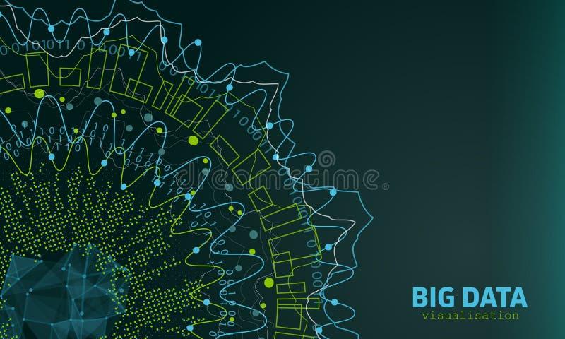 Μεγάλη απεικόνιση στοιχείων Φουτουριστικός infographic Αφηρημένο σχέδιο πληροφοριών διανυσματική απεικόνιση
