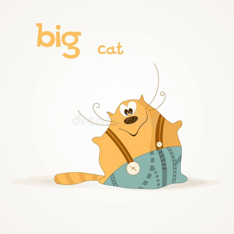 Μεγάλη γάτα ελεύθερη απεικόνιση δικαιώματος
