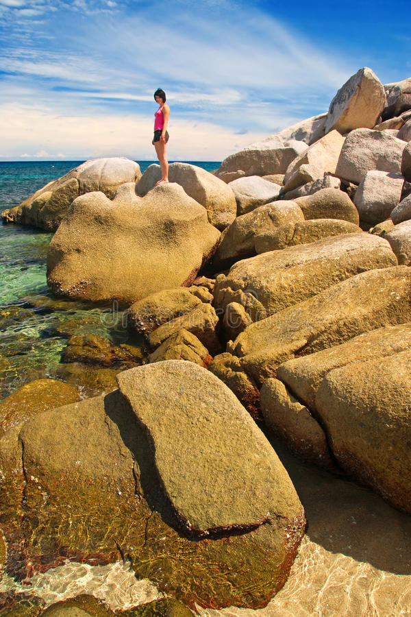 μεγάλη γυναίκα βράχων στοκ εικόνες