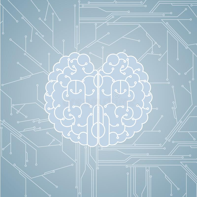 Μεγάλη δημιουργική έννοια σχεδίου, δίκτυο υπολογιστών απεικόνιση αποθεμάτων