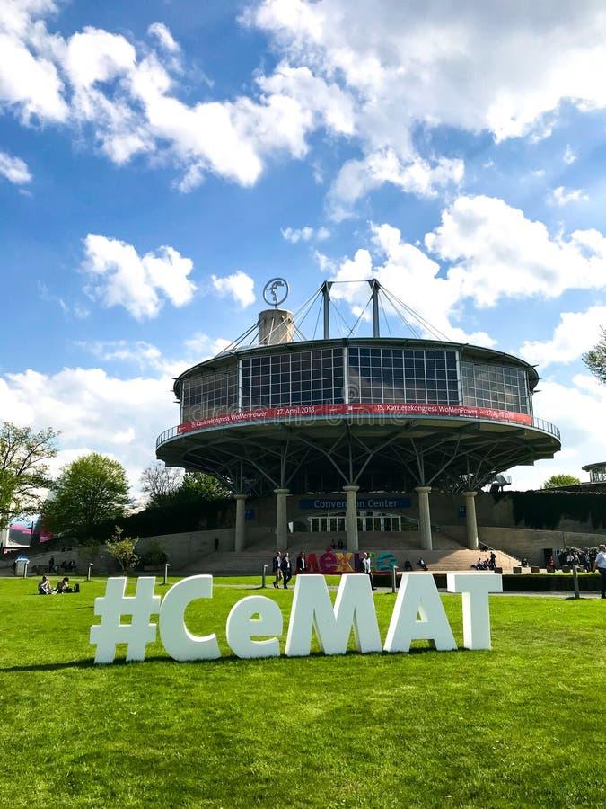 Μεγάλη διαφήμιση για CeMAT 2018 στοκ φωτογραφίες με δικαίωμα ελεύθερης χρήσης