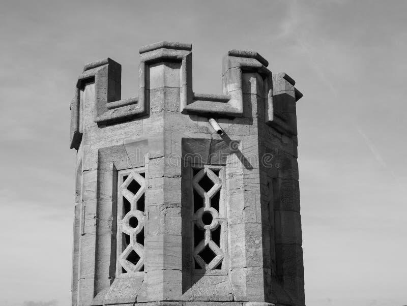 Μεγάλη εκκλησία του ST Mary στο Καίμπριτζ σε γραπτό στοκ φωτογραφία