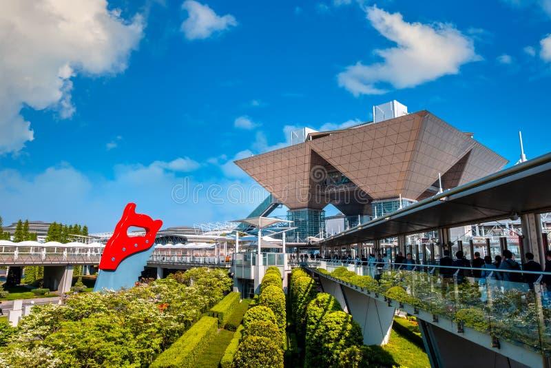 Μεγάλη θέα του Τόκιο σε Odaiba, Τόκιο, Ιαπωνία στοκ εικόνα