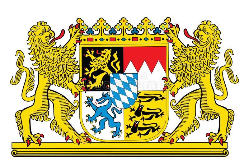Μεγάλη κάλυψη των όπλων της Βαυαρίας, Γερμανία Επαρχία στο σύμβολο της Γερμανίας, έμβλημα ελεύθερη απεικόνιση δικαιώματος