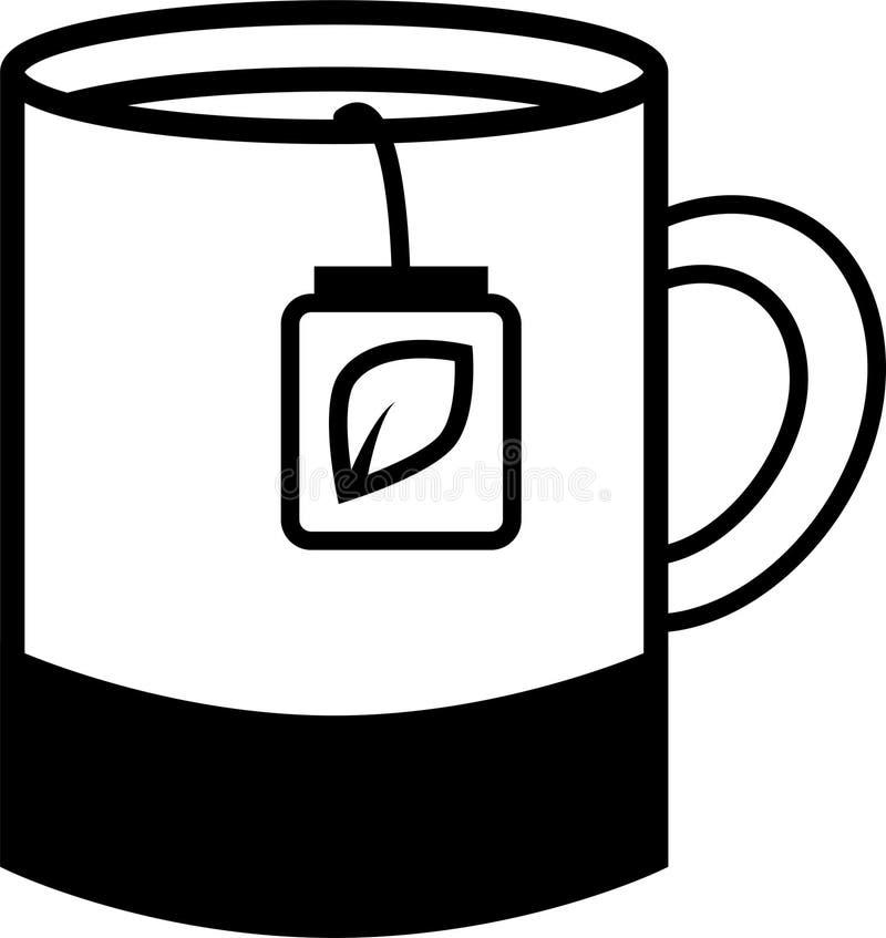 Μεγάλη κούπα εικονιδίων με το τσάι απεικόνιση αποθεμάτων