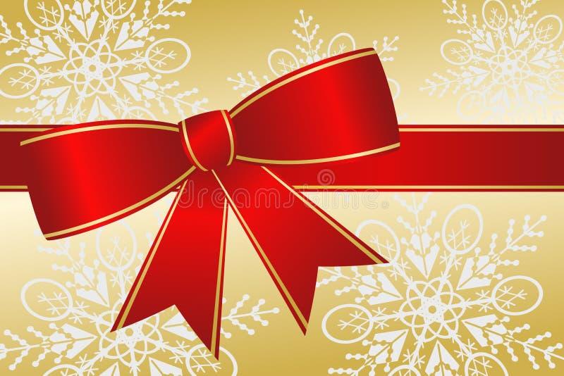 μεγάλη κόκκινη κορδέλλα Χριστουγέννων ελεύθερη απεικόνιση δικαιώματος
