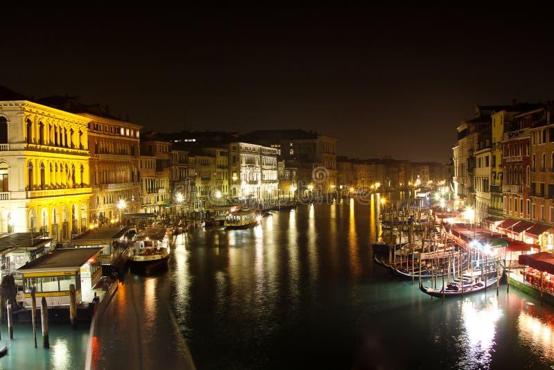 μεγάλη νύχτα Βενετία καναλιών στοκ φωτογραφίες με δικαίωμα ελεύθερης χρήσης