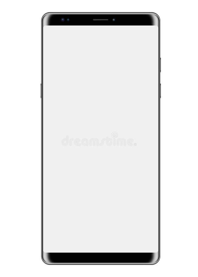 Μεγάλη οθόνη Smartphone που απομονώνεται στο λευκό διανυσματική απεικόνιση