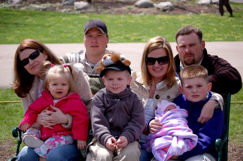 μεγάλη οικογένεια στοκ φωτογραφίες