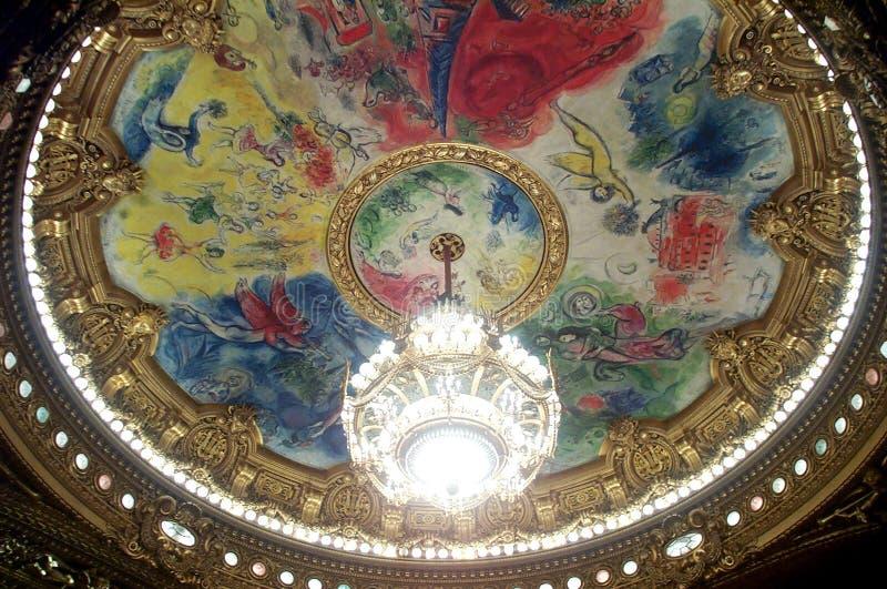 Μεγάλη όπερα De Παρίσι Στοκ εικόνες με δικαίωμα ελεύθερης χρήσης