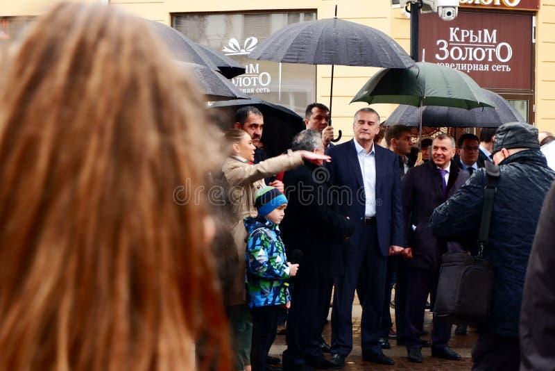 Μεγάλοι προϊστάμενοι κάτω από την ομπρέλα στοκ εικόνα
