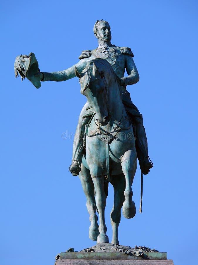 μεγάλος ΙΙ λουξεμβούργιο άγαλμα William δουκών στοκ εικόνες