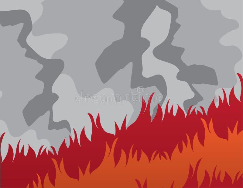 Μεγάλος καπνός πυρκαγιάς ελεύθερη απεικόνιση δικαιώματος