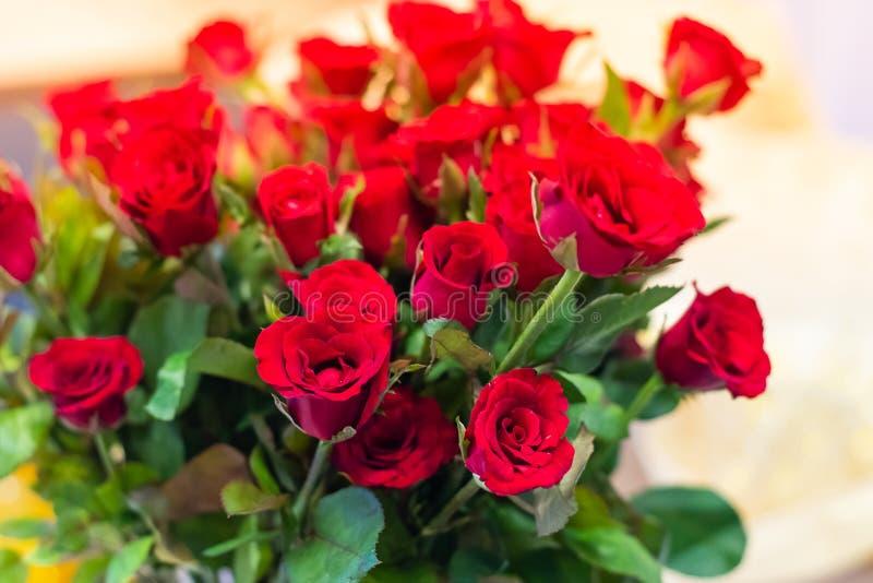 Μεγάλος κόκκινος αυξήθηκε ανθοδέσμη δίνει λόγω της αγάπης στοκ φωτογραφίες με δικαίωμα ελεύθερης χρήσης
