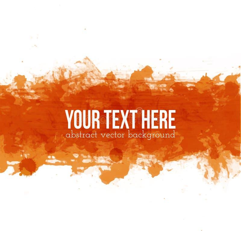 Μεγάλος φωτεινός πορτοκαλής παφλασμός grunge στο άσπρο υπόβαθρο απεικόνιση αποθεμάτων