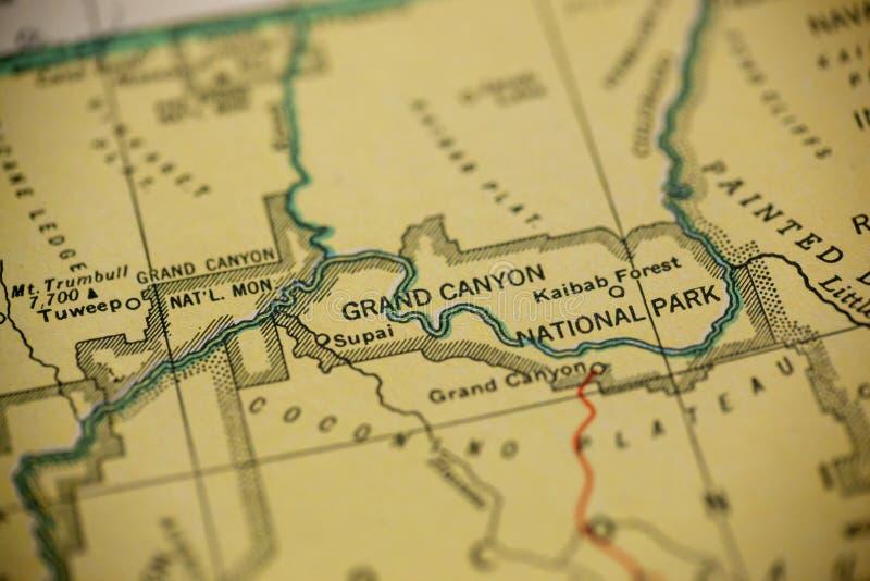 Μεγάλος χάρτης φαραγγιών στοκ εικόνα