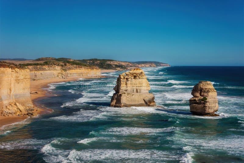 Μεγάλος ωκεάνιος δρόμος Βικτώρια Αυστραλία δώδεκα απόστολος στοκ εικόνες