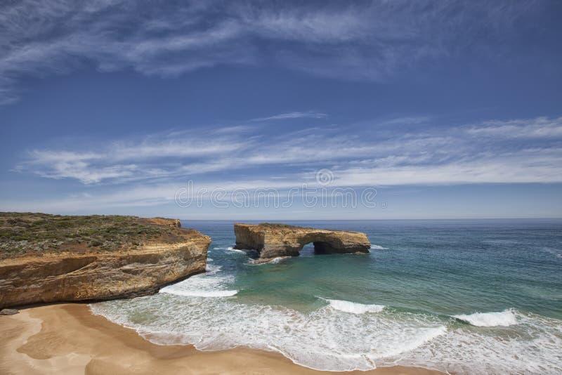 Μεγάλος ωκεάνιος δρόμος, Βικτώρια, Αυστραλία Φυσική άποψη τοπίων, s στοκ εικόνες