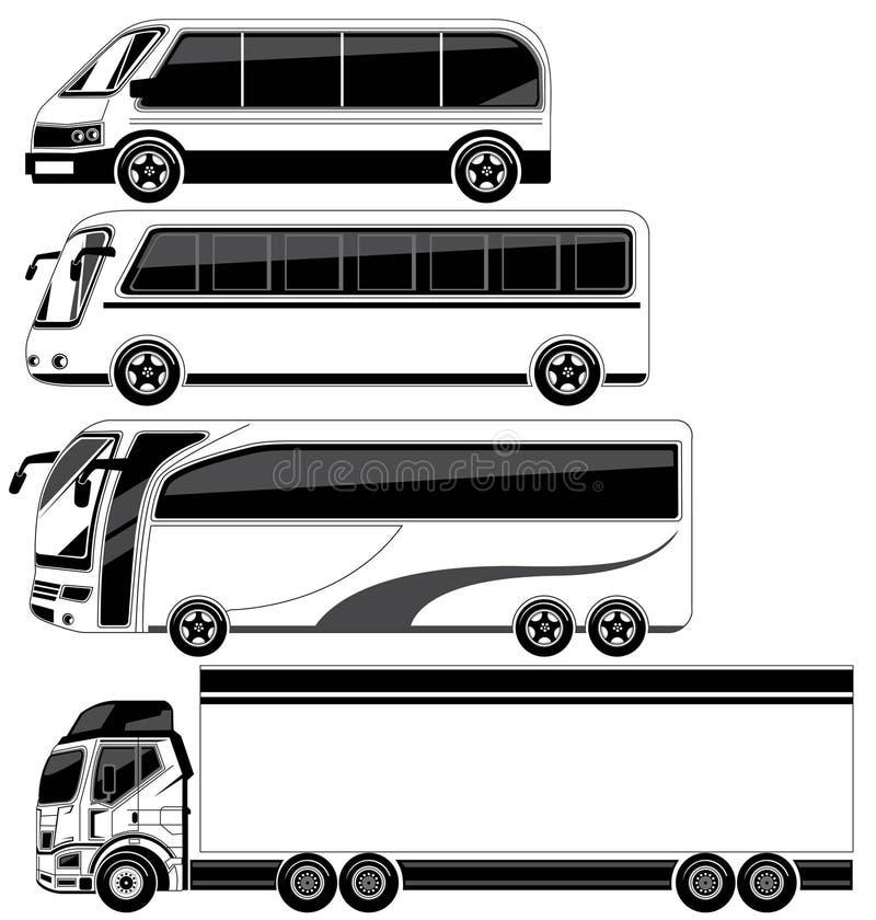 Μεγάλου μεγέθους όχημα διανυσματική απεικόνιση